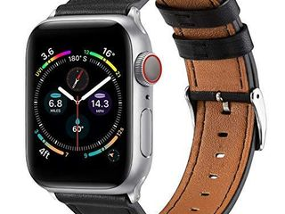 BElONGME Compatible with Apple Watch Band 44mm 42mm 40mm 38mm  Genuine leather Replacement Strap for iWatch SE   Series 6 5 4 3 2 1