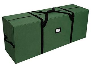 OurWarm Christmas Tree Storage Bag Extra large Heavy Duty Storage Containers with Reinforced Handles Zipper for 7 5ft Artificial Tree  50  x 15  x 20  600D Oxford Xmas Holiday Tree Storage Bag  Green USED