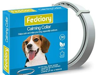 Fedciory Calming Pheromone Collar for Dogs Adjustable Collars with long lasting Calm Effect Relieve Anxiety for All Small Medium and large Dog  25 Inches