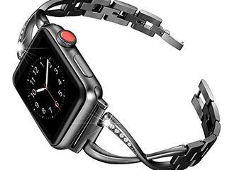 Secbolt Bands Compatible Apple Watch Band 38mm 40mm Black