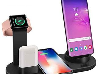 Charge 4 Of Your Devices Easily And Fast  multi charging station for the whole familyas smartphones  Apple iPhone  AirPods 3 in 1 charger