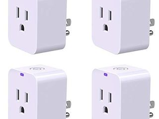 Smart Plug  POWRUI Mini WiFi Outlet Compatible with Amazon Alexa   Google Home No Hub Required Timing Function Control Your Home ETl Certified   4 Pack