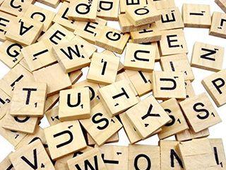 Sunnyglade 500PCS Wood letter Tiles  Wooden Scrabble Tiles A Z Capital letters for Crafts  Pendants  Spelling