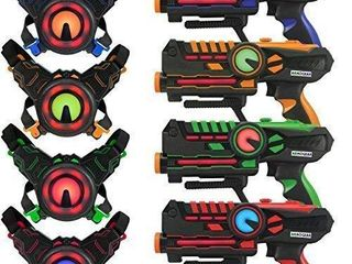 ArmoGear laser Tag a laser Tag Guns with Vests Set of 4 a Multi Player lazer Tag Set for Kids Toy for Teen Boys   Girls a Outdoor Game for Kids  Adults and Family a Ages 8