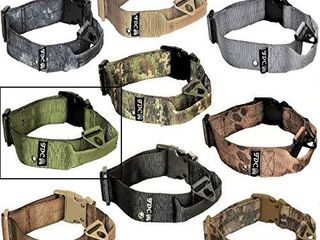 FDC Dog Tactical Collars with Handle Heavy Duty Training Military Army Width 1 5in Plastic Buckle TAG Hole Medium large M  l  Xl  XXl  XXl  Neck 20    24  Military Green