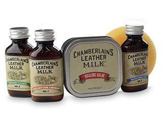 Chamberlains leather Milk Healing Balm 1oz Sample of No 1 2 3 Bundle