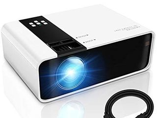GRC Mini Projector  1080P HD Supported Portable Movie Projector with 45000 Hrs lED lamp life  Compatible with TV Stick Video Game HDMI USB AV DVD for Multimedia Home Theater  Projector for outdoor