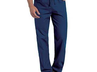 landau Standard Comfort Stretch One Pocket Reversible Drawstring Scrub Pant  Navy  Medium