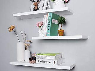 Floating Shelves Set of 3 Wall Shelves  white 16 x5