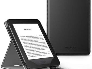MoKo Case Fits All New Kindle  10th Generation   2019 Release Only  Vertical Flip Protective Cover with Auto Wake Sleep  Will Not Fit Kindle Paperwhite 10th Generation 2018   Black