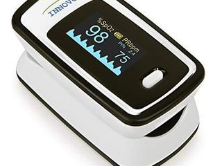 Innovo Deluxe iP900AP Fingertip Pulse Oximeter with Plethysmograph and Perfusion Index  Off White with Black