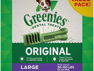 GREENIES Original large Dog Natural Dental Treats  50  100 lb  dogs
