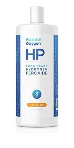 Essential Oxygen Food Grade Hydrogen Peroxide 3  Natural Cleaner  Refill  32 Fl Oz