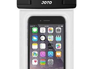 JOTO Universal Waterproof Pouch Cellphone Dry Bag Case for iPhone 12 Pro Max 11 Pro Max Xs Max XR X 8 7 6S Plus SE  Galaxy S20 Ultra S20  S10 Plus S10e  Note 10  9  Pixel 4 Xl up to 6 9   Clear