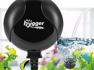 Hygger Quiet Mini Air Pump for Aquarium 1 5 Watt Oxygen Fish Air Pump for 1 15 Gallon Fish Tank with Accessories Black