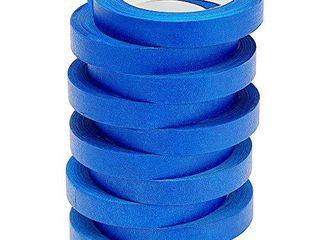 lICHAMP 10 Pack Blue Painters Tape 3 4 inch  Blue Masking Tape Bulk Multi Pack  0 75 inch x 55 Yards x 10 Rolls  550 Total Yards