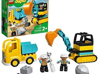 lEGO DUPlO Construction Truck   Tracked Excavator 10931 Building Site Toy for Kids Aged 2 and Up  20 Pieces