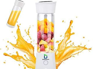 Diwenhouse Portable Blender  Personal Size Blender for Shakes and Smoothies Mini Juicer Cup 16 oz USB Rechargeable Battery Wireless White