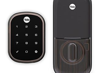 Yale Assure lock Sl with Z Wave   Smart Key Free Touchscreen Deadbolt   Works with Ring Alarm  Samsung SmartThings  Wink and More  Hub required  sold separately    Bronze