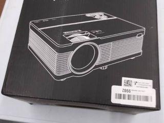 QKK Mini Projector 6500lumens Portable lCD Projector  100  Projector Screen Included  Full HD 1080P