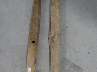 2 WOOD NECK YOKES