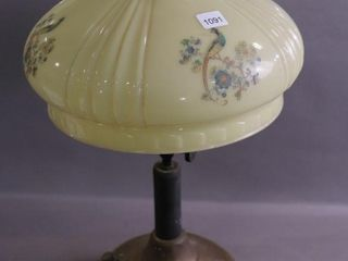 GAS lAMP WITH GlASS SHADE 20