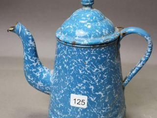 ENAMElWARE TEA POT 9