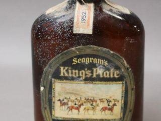 SEAGRAMS KINGS PlATE RYE BOTTlE 12oz