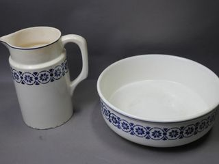 CERAMIC PITCHER AND BOWl