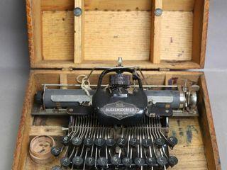 BlICKENDERFER TYPEWRITER WITH CASE 13X9X7