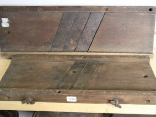 TWO WOODEN SlICERS 7X21