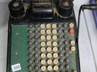 BURROUGHS ADDING MACHINE 9X13X10