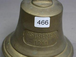 MS BREMEN 1911 BRASS BEll 5 1 2 X 5 1 2
