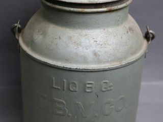 3 QUART MIlK CAN WITH lID  TBV CO 8X13