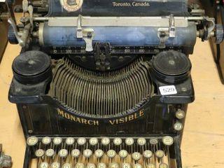 MONARCH VISIBlE TYPEWRITER NO  3 TORONTO