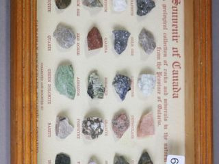 FRAMED GEOlOGICAl COllECTION OF ROCKS