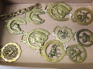 lOT OF 10 HORSE BRASS