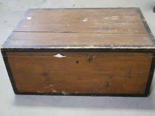 WOODEN STORAGE BOX 26X17X11