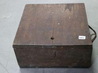 WOODEN BOX 12X12X6