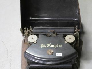 THE EMPIRE TYPE WRITER WITH CASE