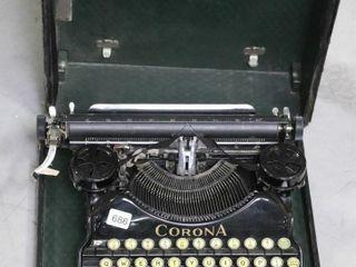 CORONA TYPE WRITER WITH CASE 13X12X5