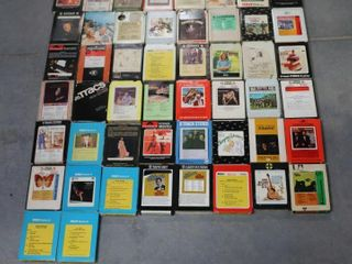 BOX lOT OF 8 TRACK TAPES