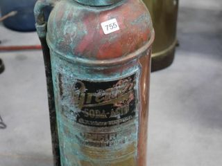 PYRENE COPPER FIRE EXTINGUSHER