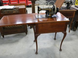 FRISSTER AND ROSSMAN SEWING MACHINE AND CABINET