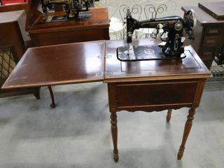 VINDEX C SEWING MACHINE AND CABINET
