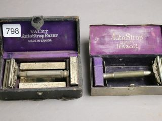 AUTO STROP AND VAlET SAFETY RAZORS AND CASES