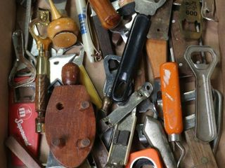 lARGE BOX OF ASSORTED BOTTlE OPENERS