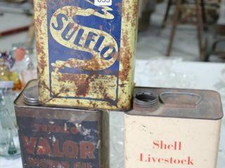 3 ASSORTED ONE GAllON TINS    SHEll lIVESTOCK