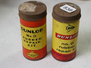 2 DUNlOP RUBBER TIRE REPAIR KITS