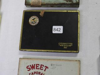 3 CIGARETTE TIN CASES  SWEET CAP  PlAYERS AND